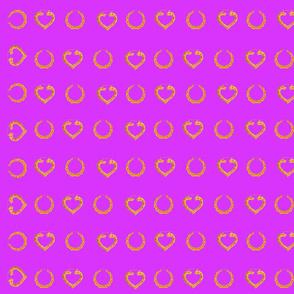90S BAMBOO EARRINGS (purple)