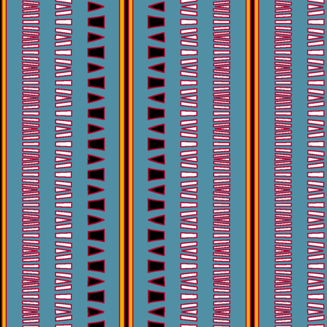 Tribal Celebrant (Turquoise) fabric by david_kent_collections on Spoonflower - custom fabric