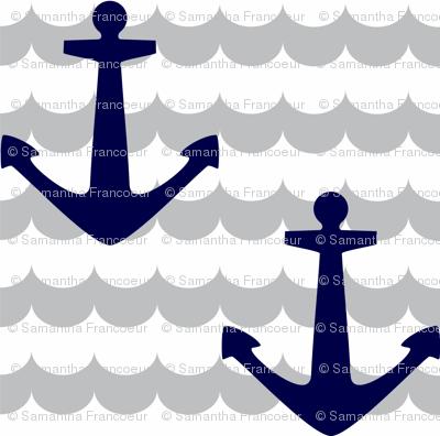 Nautical - Anchor Navy