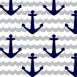 Nautical - Anchor Navy