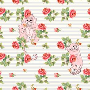 Pink monkeys in roses