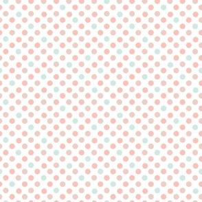 Polka Dot Charm peach