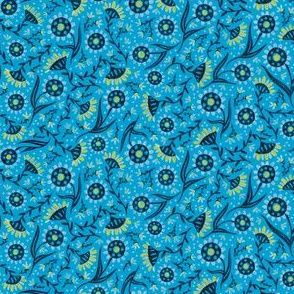Blue Folksy Floral