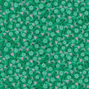 Green Folksy Floral