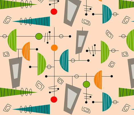 Atomic Era Abstract II fabric by hot4tees_bg@yahoo_com on Spoonflower - custom fabric