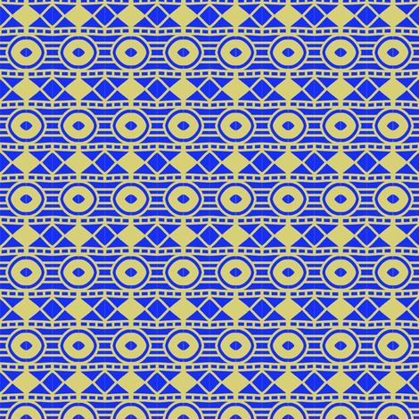 Blue Star Yellow Sun fabric by eve_catt_art on Spoonflower - custom fabric