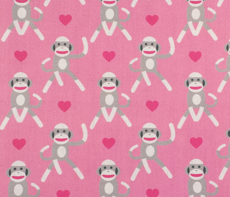 Sock Monkeys Pink