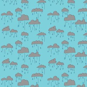 Rain Clouds - Blue