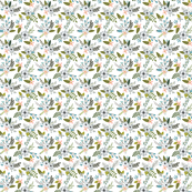 sprigs and blooms // silver // extra small