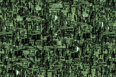 Star Trek Borg Cube Fabric Rebelinn Spoonflower