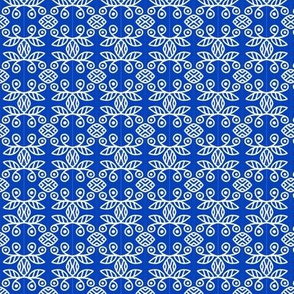Scandinavian Berries Blue White