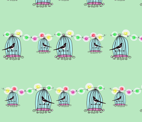 Mint fabric by angela_holland on Spoonflower - custom fabric
