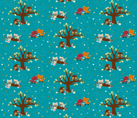 A Windy Woodland Day fabric by clayvision on Spoonflower - custom fabric