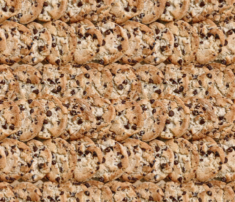chocolate chip cookies  fabric by hannafate on Spoonflower - custom fabric