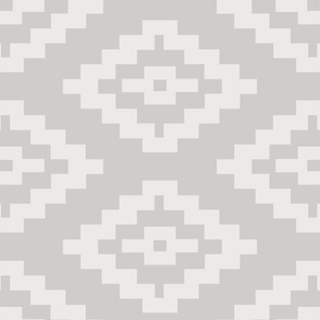 Geometric Kilim  --  Large Repeat in taupe