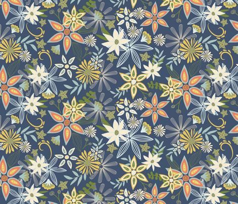 In Bloom fabric by jenniferlabre on Spoonflower - custom fabric