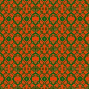 Circles and Ovals Orange Green