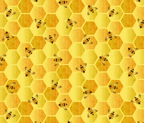 busy worker bees fabric by kociara on Spoonflower - custom fabric