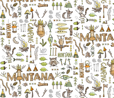 Montana boys - white fabric by mulberry_tree on Spoonflower - custom fabric