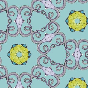 delicate octopus kaleidoscope lattice