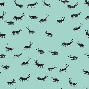 Ants -  Pale Turquoise by Andrea Lauren