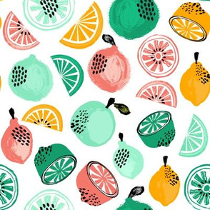Summer Citrus - Mint, Green, Yellow by Andrea Lauren