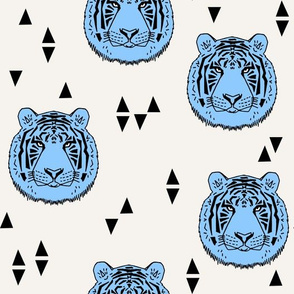 Tiger - Baby Blue by Andrea Lauren
