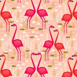 Flamingo - Pastel Pink by Andrea Lauren