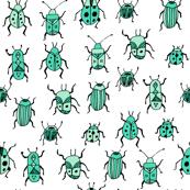 Beetles - Light Jade by Andrea Lauren