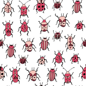 Beetles - Pink by Andrea Lauren