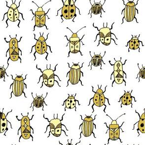 Beetles - Yellow by Andrea Lauren