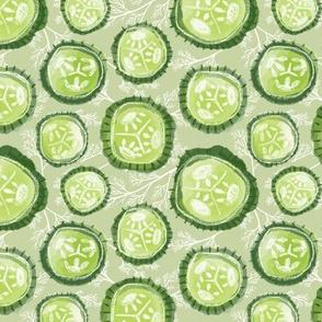 Dill Pickles on Sage - Medium