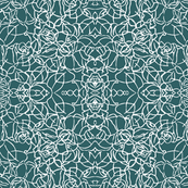 Knotted Rose - Antique Teal