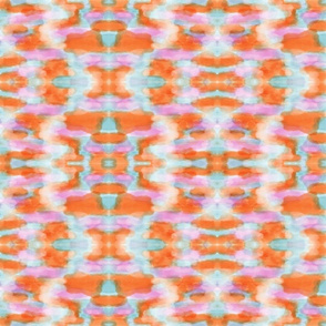 Summer Tangerine Creamsicle Pattern
