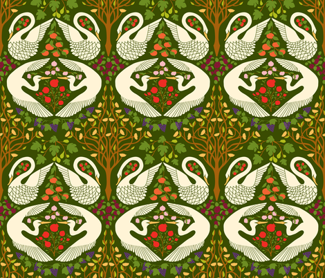 The Garden of Earthly Delights - Forest fabric by ceciliamok on Spoonflower - custom fabric
