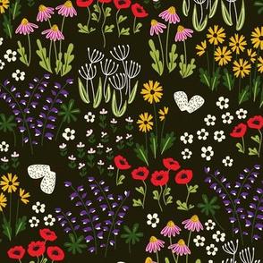 Wildflower Garden in Midnight