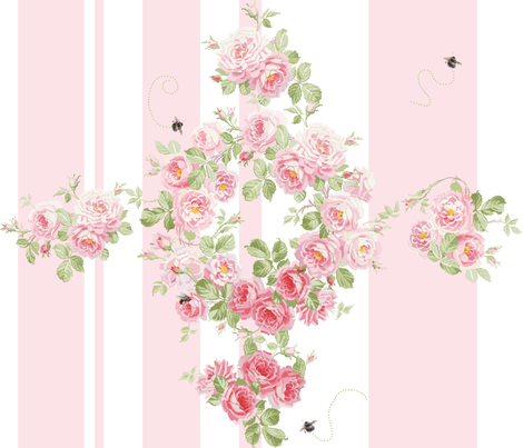 Rose d'Ete fabric by lilyoake on Spoonflower - custom fabric