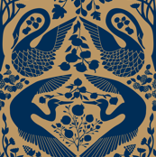 The Garden of Earthly Delights - Indigo/Gold
