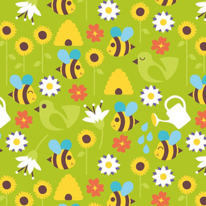 Busy bees green