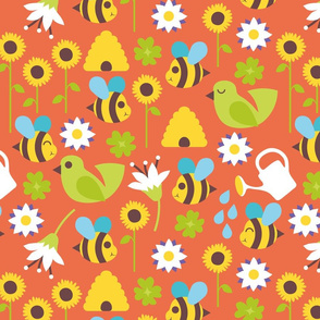 Busy bees orange