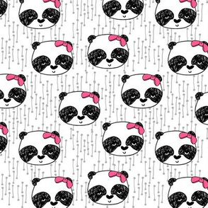 Panda with Bow - White (smaller version) by Andrea Lauren