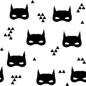 bat mask // black and white baby superhero comic nursery kids triangle
