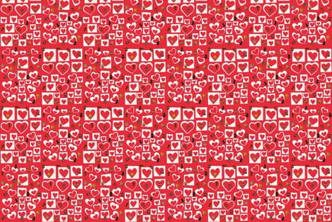Hearts´ Invasion fabric by joancaronil on Spoonflower - custom fabric