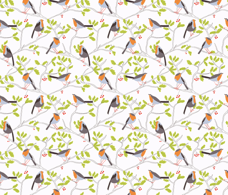 Robins fabric by agakobylinska on Spoonflower - custom fabric