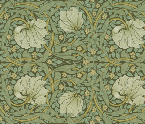 William Morris Pimpernel Original Border Fabric