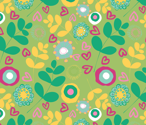 april_showers_2 fabric by megancarroll on Spoonflower - custom fabric