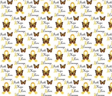 Faith Love Hope Courage II fabric by alicefrenz on Spoonflower - custom fabric