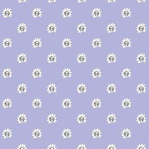 Skull Daisies on Lavender