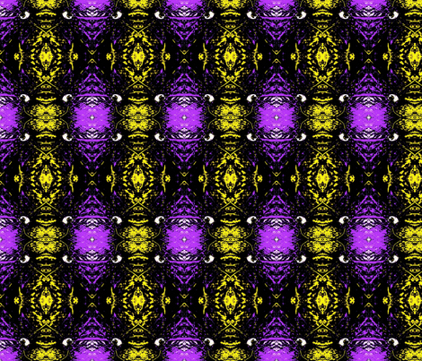 Crazy check purple - yellow fabric by simonka on Spoonflower - custom fabric