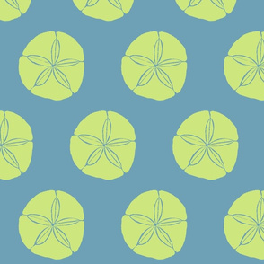 Sand Dollar XL celery on sea blue- 2015
